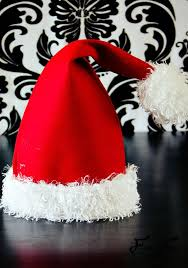 easy santa hat diy with a free sewing pattern great sewing project for the holidays