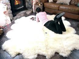 faux sheepskin rug ross ivory rectangle lamp sheep fur large non
