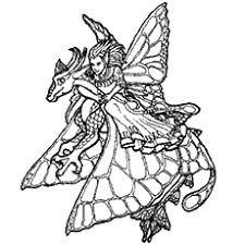Fairy And Dragon Coloring Pages Color Bros