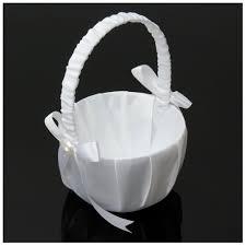 Romantický Bílý Košíček Pro Družičky