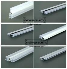 shower door bottom seal glass strip hot waterproof at the of k with sweep vinyl