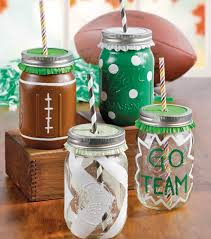 Crafts With Mason Jars Festive Football Jars Diy Pinterest Craft Mason Jar Crafts