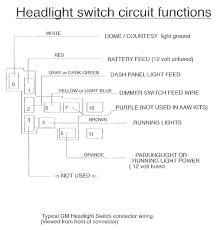 gm headlight switch circuit functions