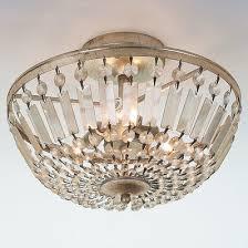 inspired lighting. Antiqued Crystal Basket Semi-Flush Ceiling Light Inspired Lighting E