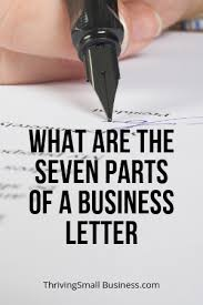Business Correspondence Letters Examples What Are The Seven Parts Of A Business Letter The