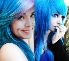 Emo Girl Hair Style Emo Girls Different Unique Hairstyle Ideas In Stylish Blue Color 1039 by wearticles.com