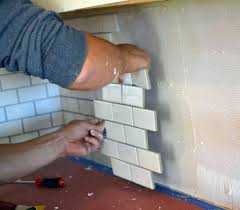 subway tile install how to backsplash over drywall