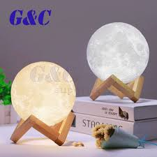 <b>3D Printing</b> LED Luna Night Light <b>Moon Lamp</b> Touch Control USB ...