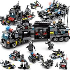 <b>8pcs lot</b> LegoINGs <b>SWAT City</b> Police Truck Building Blocks Sets ...
