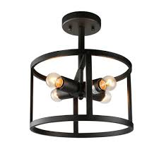 china phine industrial 4 semi flush mount drum lights ceiling pendant fixtures black china interior lighting light