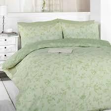 toile green birds duvet cover set