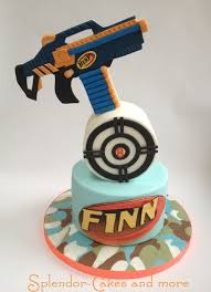 Nerf or nothin Birthday cake for my son cake by Ellen Redmond