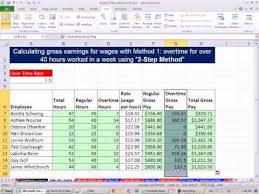 Excel Overtime Formula Excel 2010 Business Math 45 Overtime Calculations 4 Examples