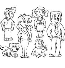 Small Picture family coloring pages for preschoolers Archives Printable