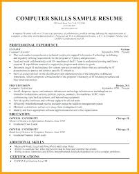 Technical Skills On A Resume Technical Skills Resume Computer Science Resume S For Computer