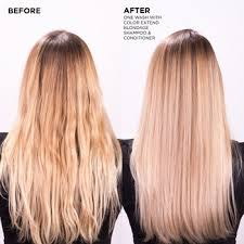 redken blondage shoo and conditioner remove briness from blonde hair