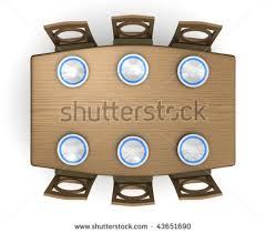 top down view of a dinner table and chairs with plates isolated on table and chairs top view s1 and