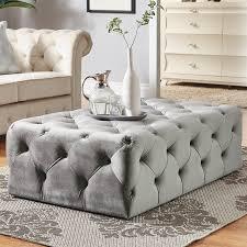 huspkiins grey tufted rectangle