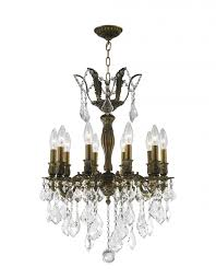 versailles collection 10 light antique bronze finish and clear crystal chandelier 19 d x 25