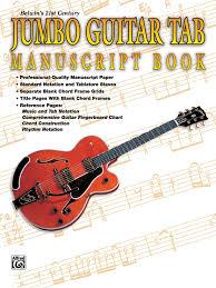 Belwins 21st Century Jumbo Guitar Tab Manuscript Book