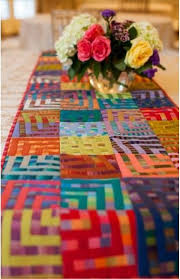 277 best TABLE TOP QUILTS & RUNNERS images on Pinterest ... & Crazy Squares table runner by Kaffe Fassett. Shot cottons. Kit at Hyggeligt  Fabrics ( Adamdwight.com