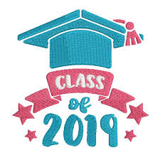 Class Of 2019 Embroidery Design Class Of 2019 Graduation Banner And Stars Instant Download Digital Machine Embroidery Design