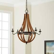 wood lighting. The Gray Barn Vineyard Bronze Metal And Wood 6-light Chandelier Lighting