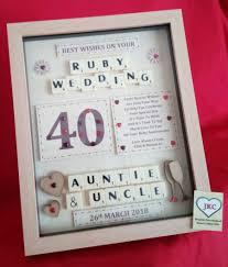 40th ruby wedding anniversary bespoke gift