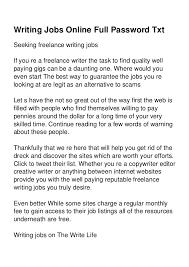writing jobs online full password txt jpg cb  writing jobs