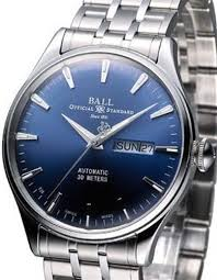 ball eternity blue dial nm2080d sj be pre owned mens watches