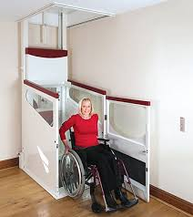 wheelchair lift for home. Brilliant Home An Elevator Or Lift Is A Type Of Vertical Transportation That Moves People  Between Floors Home Apartment Where Wheelchair Ramps Would Be  To Wheelchair Lift For Home