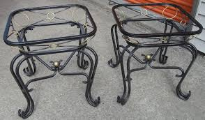 glass top end tables metal