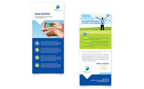 Green Card Template Green Living Recycling Rack Card Template Design