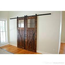 bedroom exterior sliding barn door track system. New Double Wood Sliding Barn Door Hardware Rustic Black . Bedroom Exterior Track System