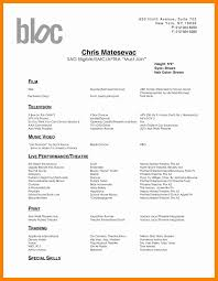 Dance Resume For A Child Lovely Actor Resume With No Experience