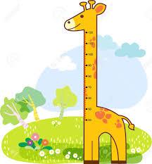 Clipart Growth Chart Girafee Growth Chart For Children