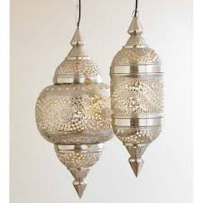 Moroccan inspired lighting Bedroom Small Hanging Lamp Silver Finish Vivaterra Moroccan Hanging Lamp Collection Silver Finish Vivaterra