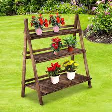 plant stand outdoor garden flower shelf