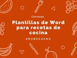 Conoce Nuestras Plantillas En Word Para Recetas De Cocina