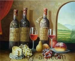 aa05hw001 21 heavy wine bottles china oil painting whole portrait oil paintings museum quality oil painting reions knife oil