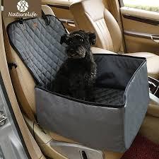 naturelife 2 in 1 foldable waterproof pet car back seat cover