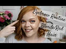 my eyebrow routine for blonde or red hair anastasia beverly hills nyx benefit you