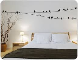 New Wall Stickers For Bedrooms Birds On A Wire Wall Decals Perfect For Your  Home #