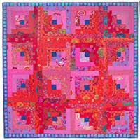 Kaffe Fassett Quilt Kits using Kaffe Fasset Collective Fabrics & Red Log Cabin Quilt Kit Adamdwight.com