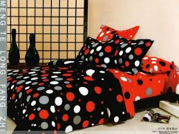 red gray black polka dot queen bedding duvet covers set