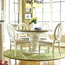 white round dining set white dining sets country chic maple wood white round extendable dining table