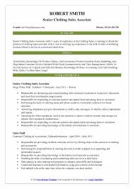 Resume Examples For Retail Sales Associate Clothing Sales Associate Resume Samples Qwikresume