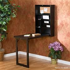 classic interior design with wall mounted convertible folding desk dark espresso stained wood finish
