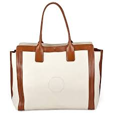 chloe alison medium per tote leather handbag white and tan item no 3s0163 703 00i