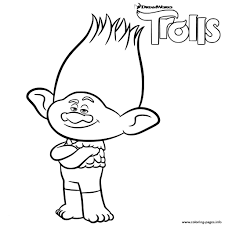 Trolls Colouring Pictures Guy Diamond From Coloring Page Free